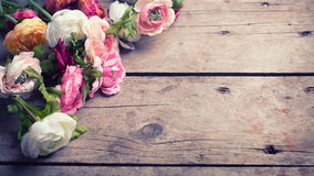 Frame from flowers Stock Photography