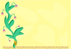 Frame of Flowers and Bamboo Stock Image