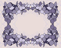 Frame flowers on a beige background Royalty Free Stock Images