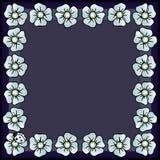 Frame of flowers. royalty free illustration