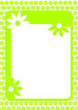 Frame with flowers border Stock Photos
