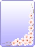 Frame_flowers of a cherry_blue. The image of colors of a cherry on a background of a gradient Royalty Free Illustration