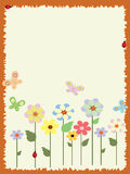 Frame with flowers,CMYK Stock Images