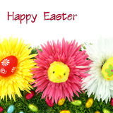 Frame of flowers and Easter eggs Royalty Free Stock Image