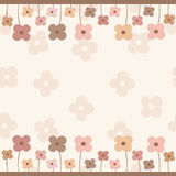 Frame of flowers with empty space Royalty Free Stock Photography