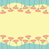 Frame of flowers with empty space for your text Royalty Free Stock Photo