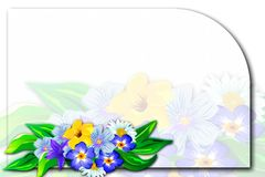 Frame with flowers. Royalty Free Stock Image