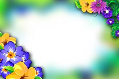 Frame with flowers. Stock Photo