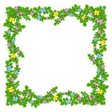 Frame of flowers garland Royalty Free Stock Images