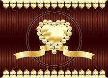 Frame of flowers and hearts on Valentine's Day Royalty Free Stock Images