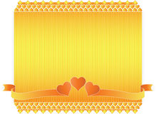 Frame of flowers and hearts on Valentine's Day Stock Images