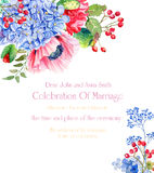Frame with flowers. Invitation card. Stock Images
