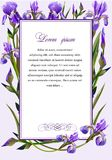 Frame with the flowers of iris stock illustration