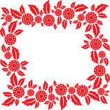 Frame of flowers and leaves Royalty Free Stock Image