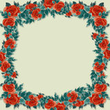 Frame of flowers and leaves Royalty Free Stock Photos