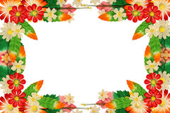 Frame of flowers made of colorful paper Royalty Free Stock Photos