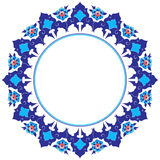 Frame with flowers of Ottoman art. Decorative frame pattern drawn in the old style Royalty Free Stock Photography