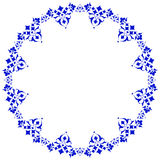 Frame with flowers of Ottoman art four. Decorative frame pattern drawn in the old style Stock Photography