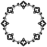 Frame with flowers of Ottoman art one. Decorative frame pattern drawn in the old style vector illustration
