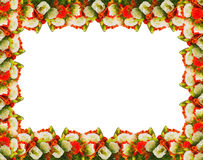 Frame of flowers roses Royalty Free Stock Images