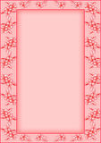 Frame with flowers in shades of pink Royalty Free Stock Image
