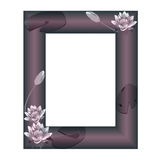 Frame with flowers of a water-lily Royalty Free Stock Photos