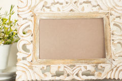 Frame with flowers Royalty Free Stock Photo
