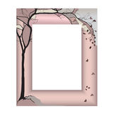 Frame - the flying autumn maple Royalty Free Stock Photos