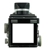 Frame focus of tlr camera. Frame focus of retro tlr camera Royalty Free Stock Image
