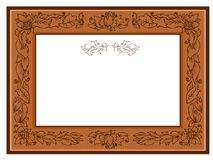 Frame with foliate Royalty Free Stock Photography