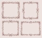 Frame with foliate Stock Images
