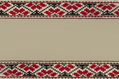 Frame with folk embroidery Royalty Free Stock Image