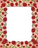 Frame Folksy da beira de Artsy Rosa Imagens de Stock Royalty Free