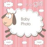 Frame For Baby Girl Stock Photo