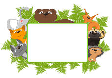 Frame of forest animals Stock Photography