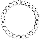 Frame in the form of a circle of decorative elements in black.  Stock Photo
