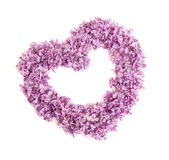 Frame in the form of heart from colors of a lilac Stock Photos