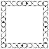 Frame in the form of a square of decorative elements in black.  Royalty Free Stock Images