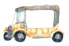 Frame of foto as toy car Stock Photo