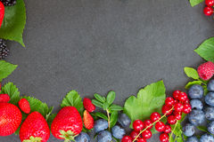 Frame  of fresh berries Royalty Free Stock Photo
