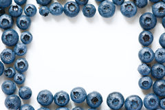 Frame from fresh blueberries laid around Stock Images