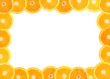 Frame of fresh orange fruit royalty free stock image