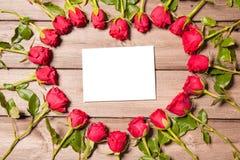 Frame of fresh roses Royalty Free Stock Photos