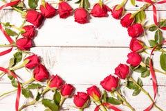 Frame of fresh roses Stock Photography