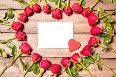 Frame of fresh roses Royalty Free Stock Image