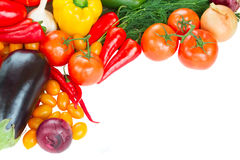 Frame of fresh vegetables close up Royalty Free Stock Photo