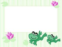 Frame with frogs Stock Photography