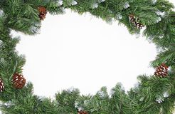 Free Frame From Christmas Tree Branches With Cones Stock Photos - 160975493