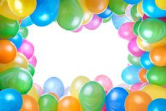 Frame From Color Balloons Isolated Royalty Free Stock Photography