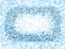 Frame , frosty snowflakes Stock Photo